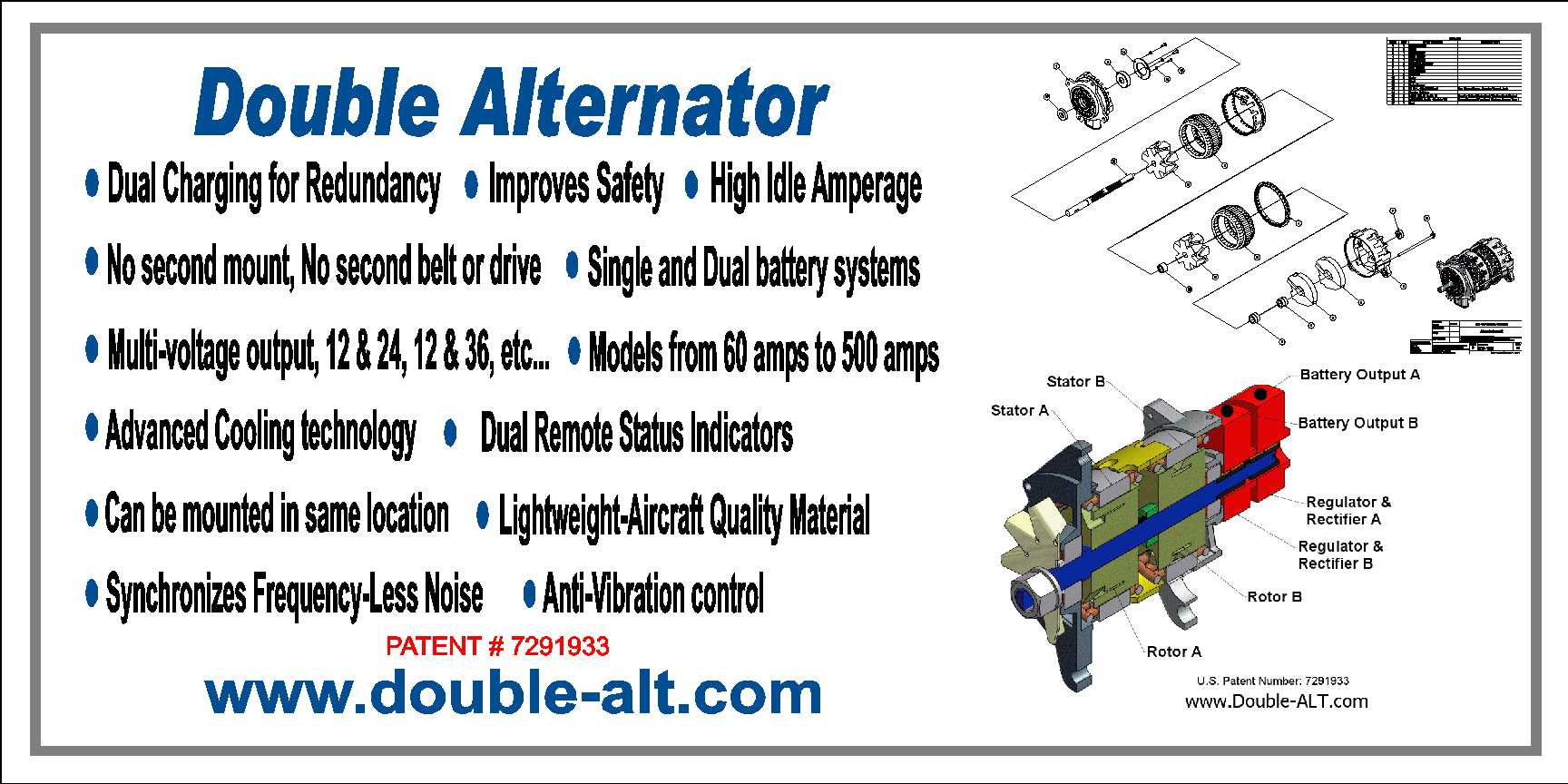 Double Alternator Information and Advantages
